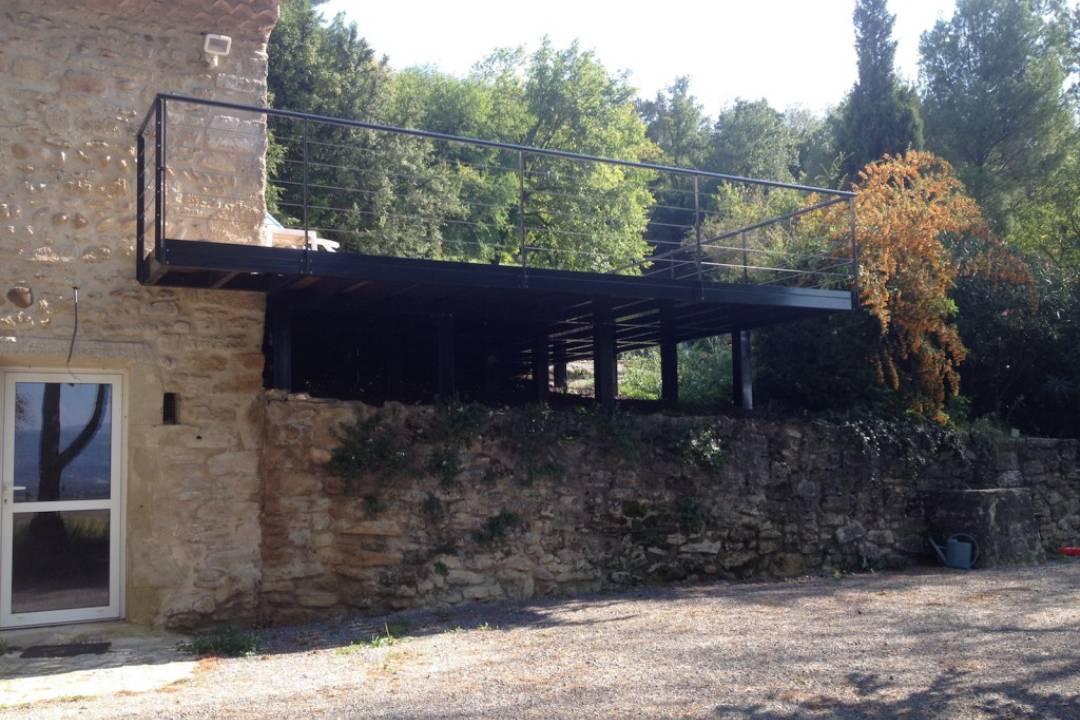 extension d 39 une maison en pierres. Black Bedroom Furniture Sets. Home Design Ideas